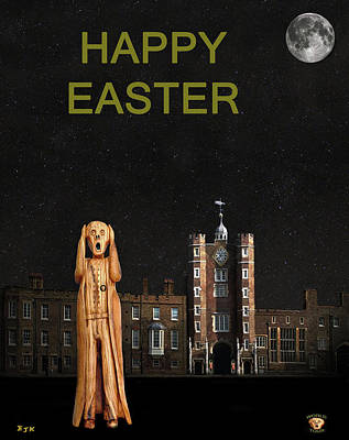 The Scream World Tour St James's Palace Happy Easter Poster by Eric Kempson