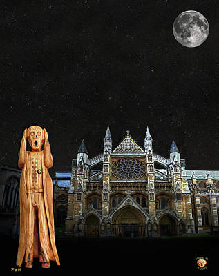 The Scream World Tour Westminster Abbey Poster by Eric Kempson