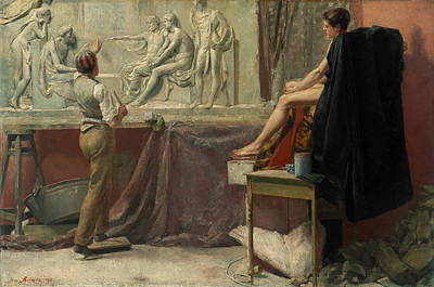 The Sculptor's Studio Poster by Tom Roberts