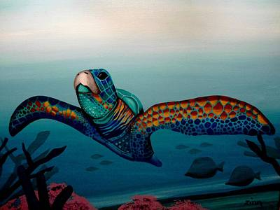 The Sea Turtle Poster by Alan Zinn