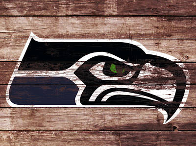 The Seattle Seahawks 3a Poster by Brian Reaves