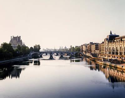 The Seine Paris Waterway Poster by Vicky Ceelen