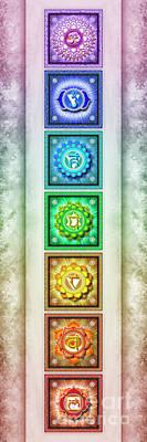 The Seven Chakras - Series 1 Artwork 2.1 Poster