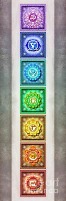 The Seven Chakras - Series 1 Artwork 2.2 Poster