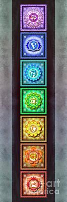 The Seven Chakras - Series 1 Artwork 2.3 Poster