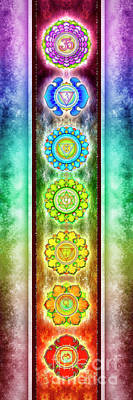 The Seven Chakras - Series 3 Artwork 1.1 Poster