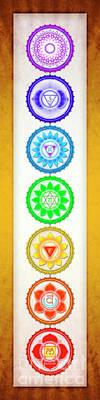 The Seven Chakras - Series 6 Artwork 1 Yellow Golden.2 Poster