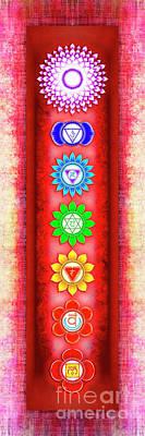 The Seven Chakras - Series 6 Artwork 3 Poster by Dirk Czarnota