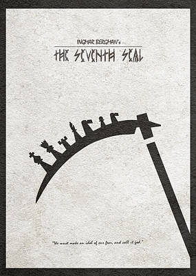 Poster featuring the digital art The Seventh Seal Aka Det Sjunde Inseglet by Ayse Deniz