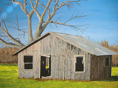 Poster featuring the painting The Shack by Norm Starks