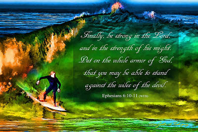 Poster featuring the photograph The Shadow Within With Bible Verse by John A Rodriguez