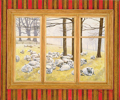 The Sheep Window Poster by Ditz