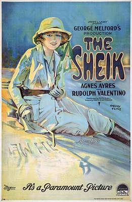 The Sheik 1921 Poster by Mountain Dreams