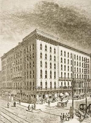 The Sherman Hotel, Chicago, Illinois In Poster by Vintage Design Pics