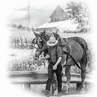 The Simple Life - Vignette Bw Poster