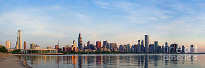 The Skyline Of Chicago At Sunrise Poster