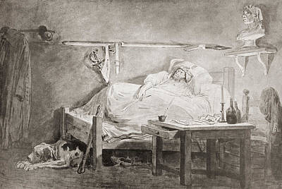The Sleep Of Marat, After The Painting Poster by Vintage Design Pics