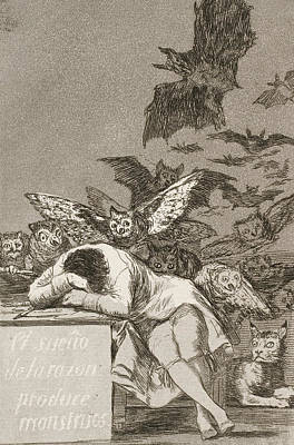 The Sleep Of Reason Produces Monsters Poster by Francisco Goya