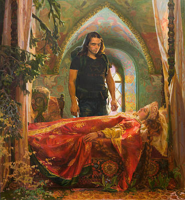The Sleeping Beauty Poster by Victoria Kharchenko