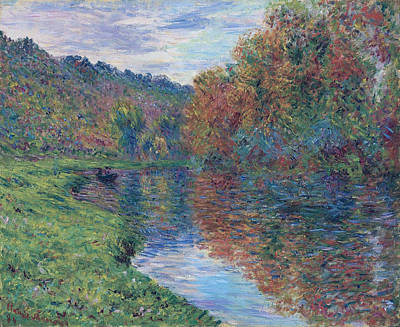 The Small Arm Of Jeufosse, Autumn, 1884 Poster by Claude Monet