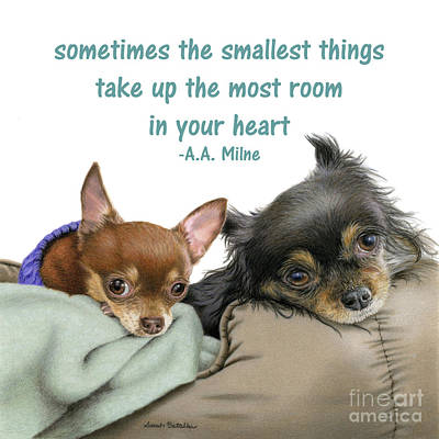 The Smallest Things Square Format Poster