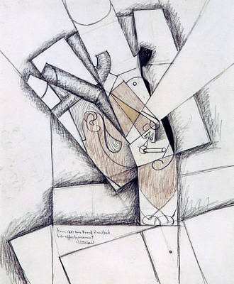 The Smoker Poster by Juan Gris