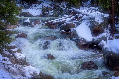 The Snowy Merced River Poster by Garry Gay