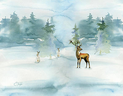 The Soft Arrival Of Winter Poster by Colleen Taylor