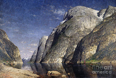 The Sognefjord, Norway, 1885 Poster by Adelsteen Normann