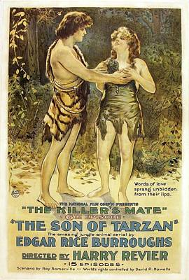 The Son Of Tarzan - The Killer's Mate 1921 Poster by Mountain Dreams