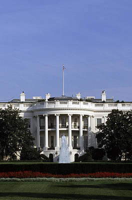 The South View Of The White House Poster