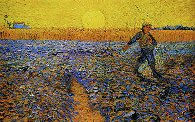 Poster featuring the painting The Sower by Van Gogh