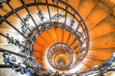 The Spiral Staircase St Stephens Basilica  Poster
