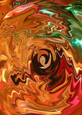The Spirit Of Christmas - Abstract Art Poster