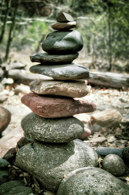 The Stack - Rock Cairn At Buddha Beach - Sedona Poster by Jennifer Rondinelli Reilly - Fine Art Photography