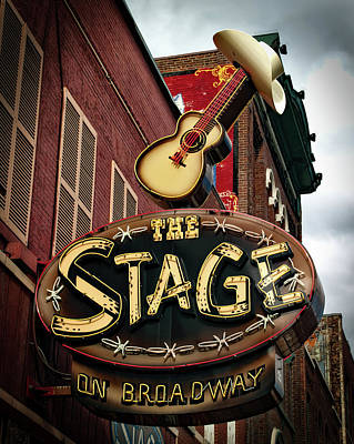 The Stage On Broadway Poster by Mountain Dreams