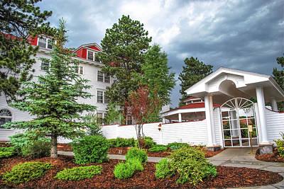 The Stanley Hotel Entrance - Estes Park Colorado Poster