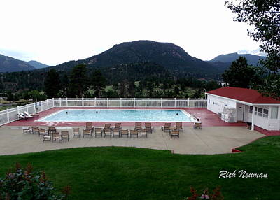 The Stanley Hotel Pool Poster
