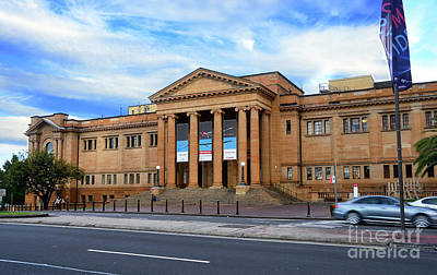 Poster featuring the photograph The State Library Of New South Wales By Kaye Menner by Kaye Menner