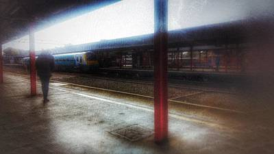 Poster featuring the photograph The Station by Isabella F Abbie Shores FRSA