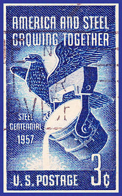 The Steel Industry Stamp Poster