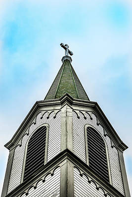 Poster featuring the photograph The Steeple by Onyonet  Photo Studios