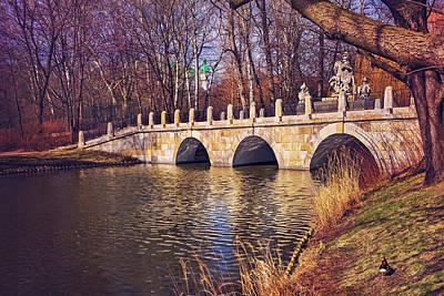 The Stone Bridge In Lazienki Park Warsaw  Poster
