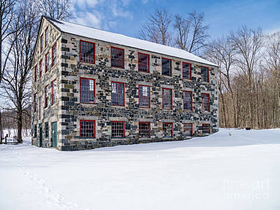 The Stone Mill Enfield Nh Poster by Edward Fielding