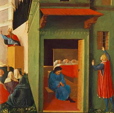 The Story Of St Nicholas Giving Dowry To Three Poor Girls 1448 Poster