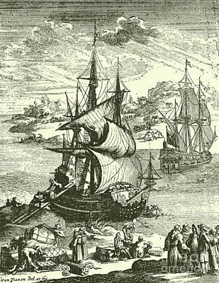 The Stranding Of The Aimable, Matagorda Bay, Texas, 1685 Poster