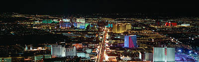 The Strip At Las Vegas,nevada Poster by Panoramic Images