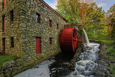Poster featuring the photograph The Sudbury Grist Mill  by Juergen Roth