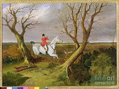 The Suffolk Hunt - Gone Away Poster by John Frederick Herring Snr