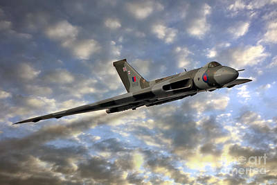 The Sun Sets On Xh558 Poster by Steve H Clark Photography